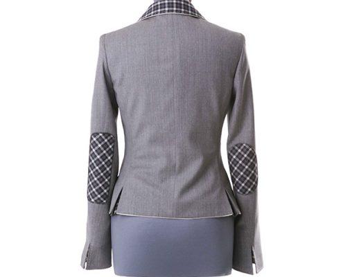 Konni Lach Masskonfektion-Blazer-Jacke-grau-hinten