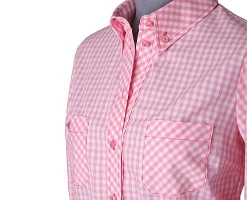 Konni Lach Masskonfektion-Bluse-Karo-rosa