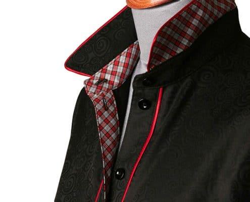 Konni Lach Masskonfektion-Bluse-schwarz-Kragen-Paspel