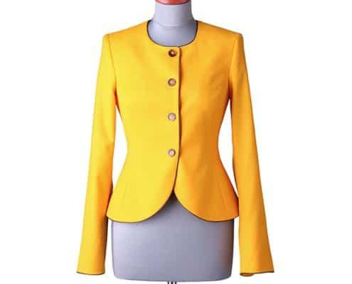 Konni Lach Masskonfektion-Jacke-ohne Kragen-gelb