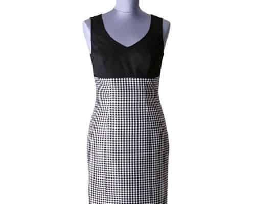 Konni Lach Masskonfektion-Kleid-schwarz-weis