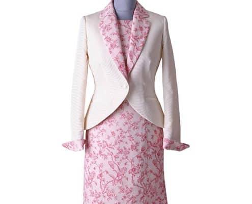 Konni Lach Masskonfektion-Kostuem-Blazer-Kleid-floral